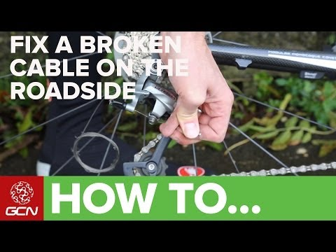 How To Fix A Broken Gear Cable On Your Bicycle - GCN's Roadside Maintenance Series