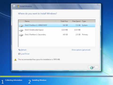 Clean Installing Windows 7 from Hard Disk