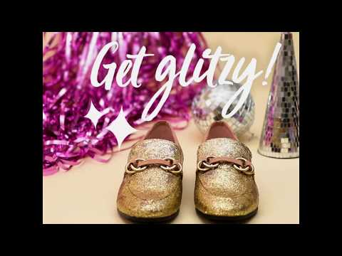 How to Make Glitter Loafers