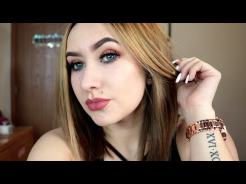 Ginger with a Pop of Blue | Makeup tutorial using Lolita 2