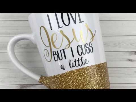 DIY Glitter Coffee Mugs