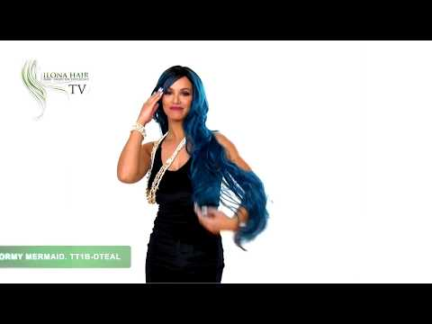 Stormy Mermaid| Synthetic Hair Wig By Ilona Hair
