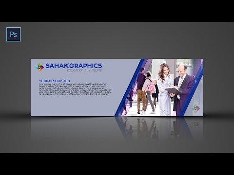 Photoshop tutorial   web banner design   Creative Banner