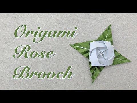 Origami Tutorial: Rose Brooch (Sy Chen)