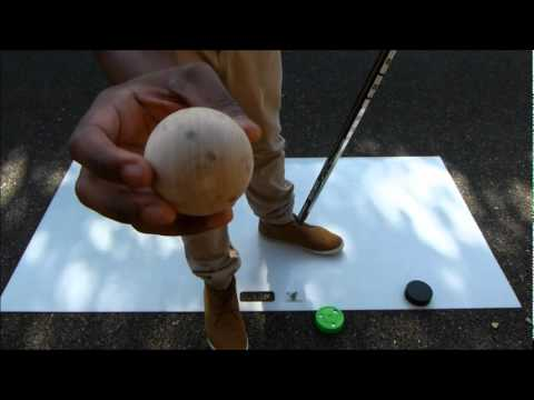The Swedish Wooden Hockey Stickhandling Ball Video Review