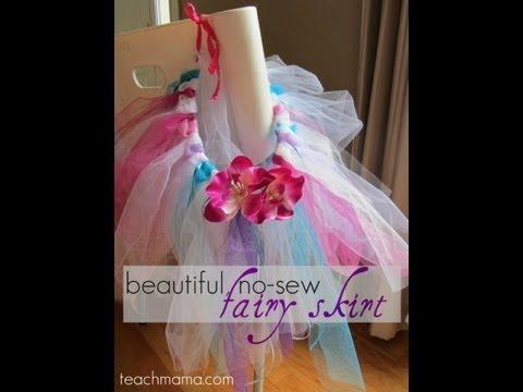 how to make a no-sew fairy skirt (or a fancy tutu) :: crafts :: teachmama.com