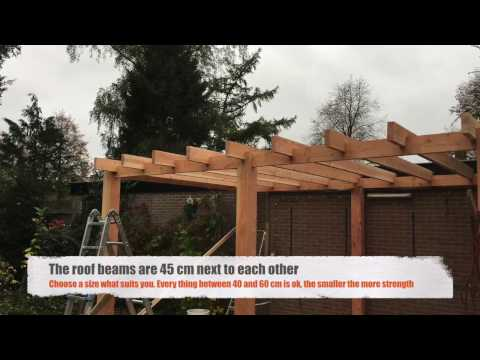 How  do they do that: Build a patio roof/cover with Douglas wood (part 1)