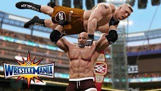 WWE 2K17 Wrestlemania 33 - Goldberg vs Brock Lesnar WWE Universal Championship Match!