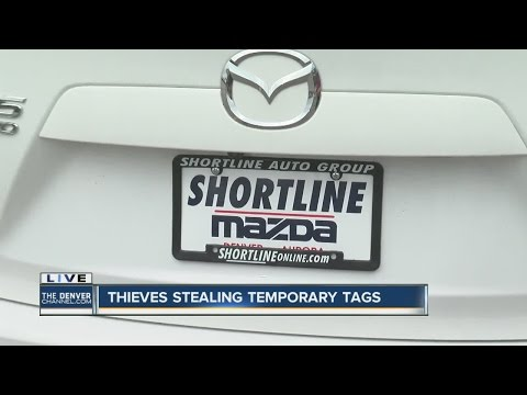 Thieves stealing temporary tags