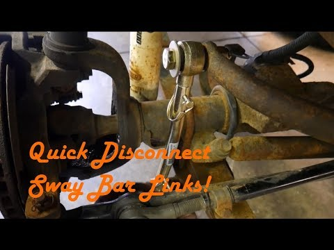 How to Install Quick Disconnect Sway Bar Links On a Jeep Wrangler - Motor Maintenance