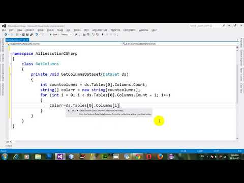 How to Use String array of column names of dataset in C# NET 2012