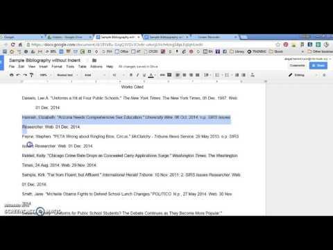 Hanging Indent in Google Docs