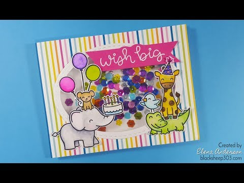 Lawn Fawn Colorful Birthday Shaker Card