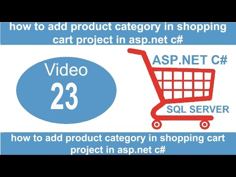 how to add product category in shopping cart project in asp net c#