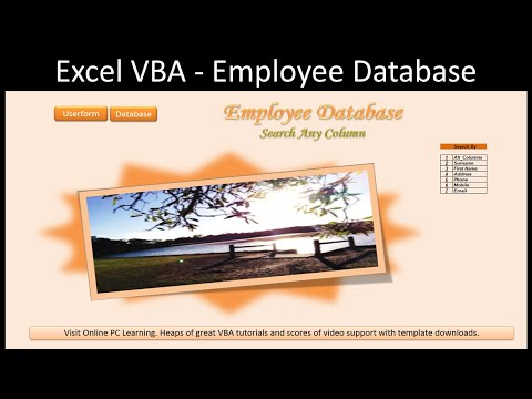 Excel Advanced Filter – Employee Database