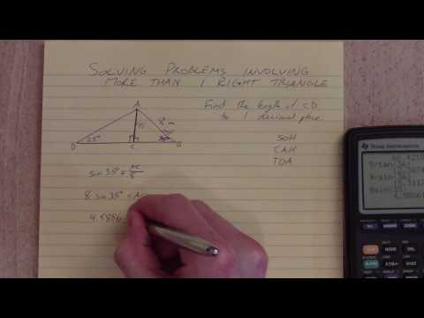 Solving Problems Involving More than One Right Triangle