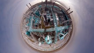 Technology and Reality: How to build an oil refinery (360 Video)