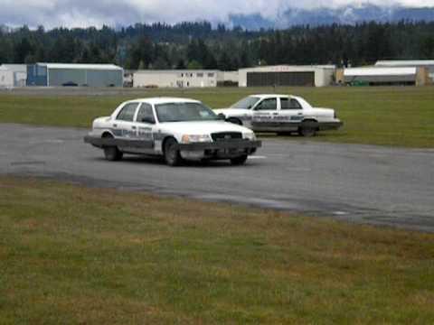 Lynnwood, Washington Police practicing pit manuevers at Arlington Airport. May
