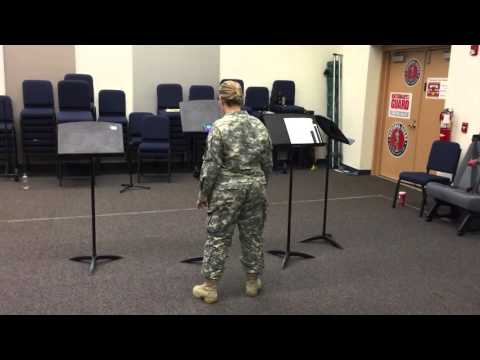 Soldier Rehearsing