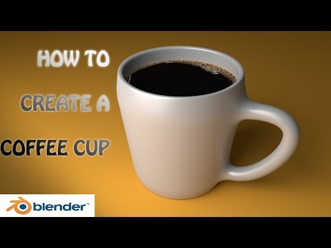 blender tutorial how to model a cup of coffee (beginners)