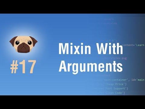 Learn Pugjs in Arabic #17 - Mixin With Arguments