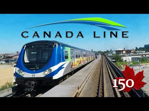 Skytrain from YVR to Waterfront Vancouver BC