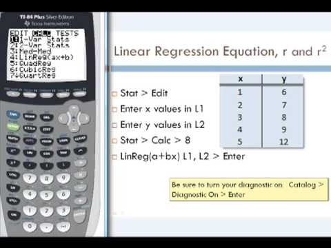 Linear Regression by Calculator