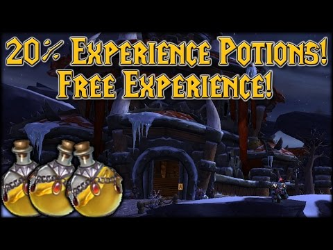 20% Extra Experience Potions!