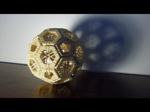 Geodesic sphere puzzle (truncated icosahedron)