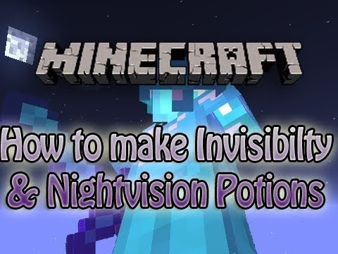 How to Make POTION OF INVISIBILITY Minecraft