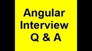 angular interview questions and answers - part 1