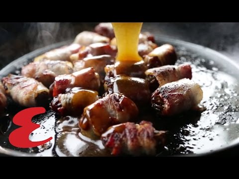 How To Make Bourbon & Bacon-Wrapped Dates