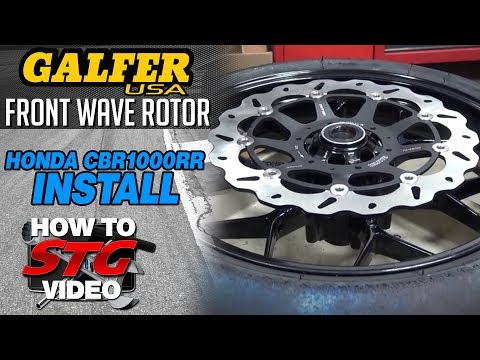 How To Install Galfer Front Wave Brake Rotors from SportbikeTrackGear.com