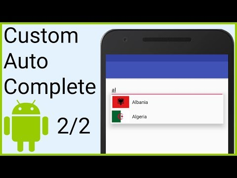 AutoCompleteTextView with Custom Adapter Part 2 - ARRAY ADAPTER AND FILTER - Android Studio Tutorial