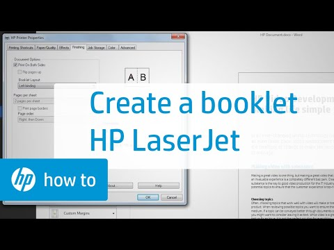 Creating a Booklet with an HP LaserJet Printer