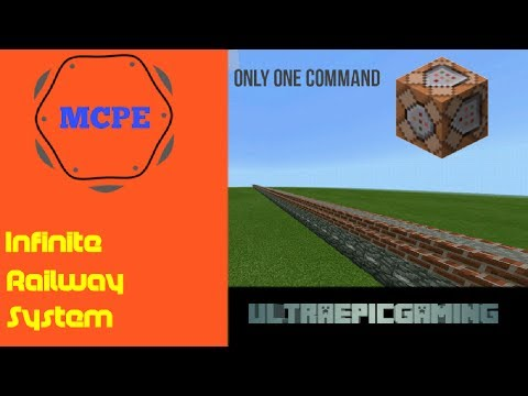 How To Make A Infinite Railway System On MCPE | Only One Command #1 [HD]