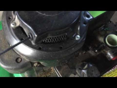 Push Mower Throttle adjusting