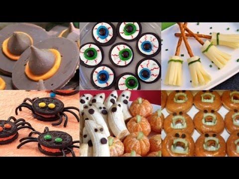6 Easy NO-BAKE DIY Halloween Treats 2014   Spiders   Eyeballs   Ghosts   Pumpkins & More!!!
