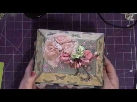 Altered Paper Mache Box Swap from Carli