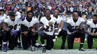 NFL players take a knee to protest Donald Trump