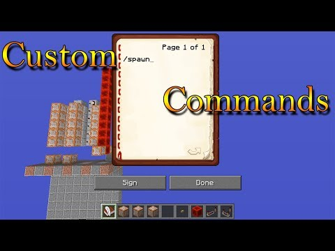 Custom Commands in Vanilla Mc (Useful for Servers)