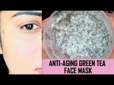 Anti Aging Green Tea Face Mask, remove wrinkles & Fine lines