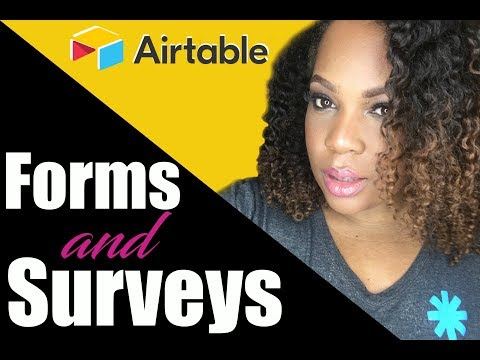 Airtable how to create a form or survey for free