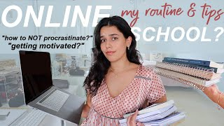 my online school routine *stuck at home* (tips & how I study)