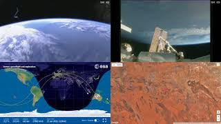 Orbital Sunrise Over Australia - ISS Space Station Earth View LIVE NASA/ESA Cameras And Map - 39
