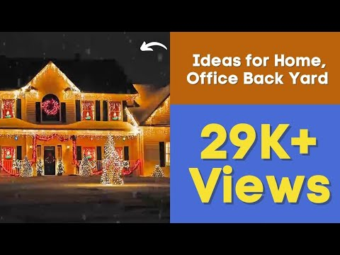 Outdoor Christmas Lighting Decorations Ideas for Home, Office Back Yard