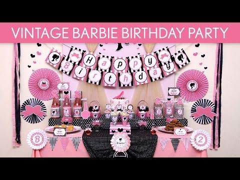 Vintage Barbie Birthday Party Ideas // Vintage Barbie - B128