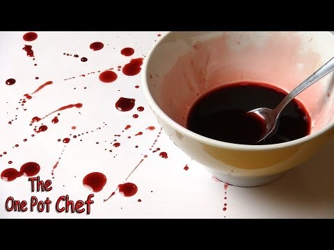 Quick Tips: Fake Blood for Halloween | One Pot Chef