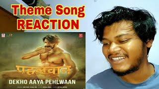 Dekho Aaya Pehlwaan Theme Song Reaction | Pehlwaan Hindi | Kichcha Sudeepa | #Movies4uReaction