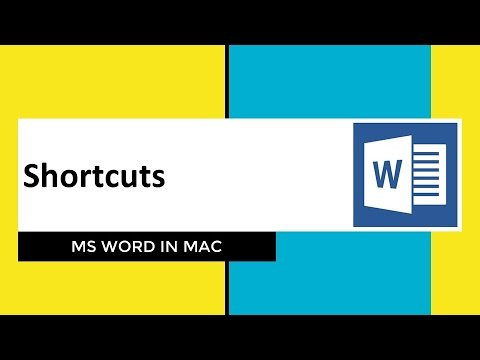 Shortcut Keys for MS Word in Mac